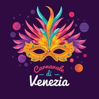 Abbildungen der venezianischen gemalten Karnevals-Gesichtsmasken für eine Partei verziert vektor