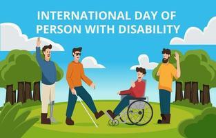 Internationaler Tag der Person mit Behinderungen vektor