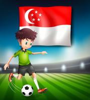 Singapur Fußballspieler Vorlage