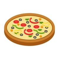 trendige Pizzakonzepte vektor