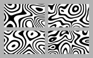 abstrakte verzerrte schwarze Tintenstreifen-Hintergrundsammlung vektor