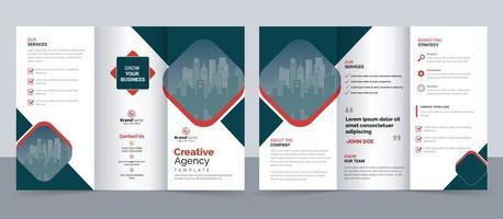 Kreative dreifach gefaltete Broschürenvorlage für moderne Unternehmen, dreifach gefaltetes Layout, Brief, Broschüre im A4-Format. vektor