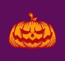 Satz handgezeichneter Halloween-Kürbis vektor