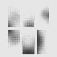 Satz von Halbtonpunkten Vintage-Design-Element in quadratischer Form vektor