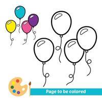 Malbuch, Luftballons-Vektor-Bild vektor
