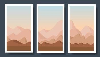 Bergvektorlandschaften im flachen Stil. vektor