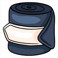 Pferdegeschirr Schutzverband für Pferdebeine Vektorgrafik im Cartoon-Stil vektor