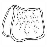 Geschirr für eine Pferdeschabracke zum Reiten von Vektorgrafiken im Linienstil für ein Malbuch vektor
