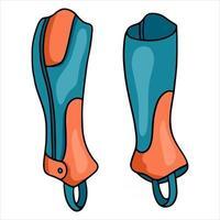 Outfit des Reiters Schutz der Beine der Jaquey Leggings Vektorgrafik im Cartoon-Stil illustration vektor