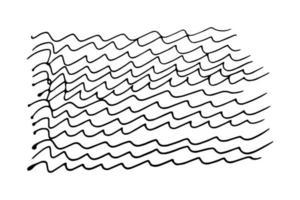 Wellen Doodle Doodle-Stil. Wellenlinien von Hand nachlässig gezeichnet Illustration auf weißem Hintergrund vektor