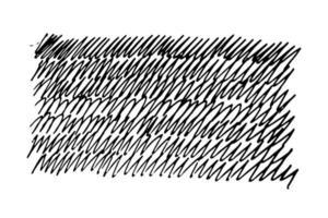 Gekritzel im Zickzack-Gekritzelstil. Hintergrundmalerei mit Marker sorglos von Hand gezeichnet - Vektor-Illustration isoliert auf weißem Hintergrund. sich wiederholende Handschrift vektor