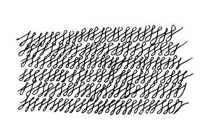 Gekritzel verdrehter Gekritzelstil. Hintergrund gemalt mit Marker handgezeichnete nachlässig Illustration auf weißem Hintergrund vektor