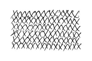 kreuzt doodle Handschriften - Illustration auf weißem Hintergrund im flachen Stil. Design-Elemente vektor