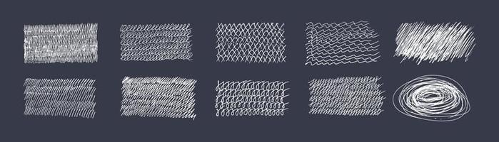 Gekritzel streicht Handschrift. Handschriftenillustration im flachen Stil. Satz von Elementen aus dünnen Linien für das Design. Handschriften werden mit einem Stift gezeichnet vektor
