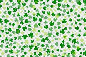 Kleeblatt flaches Design grün fallende Hintergrundmuster Vektor-Illustration vektor