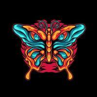 Schmetterling mit Auge vektor