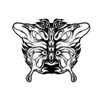 Schmetterling mit Augensilhouette vektor