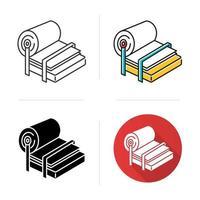Symbol für die Zellstoff- und Papierindustrie vektor