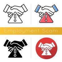 Symbol für Beschäftigungsbetrug vektor