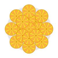 Vektor-Illustration von Orangenfrucht-Schnitt-Symbol vektor
