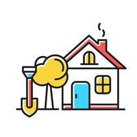 Farbsymbol für Haus und Garten vektor