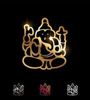 goldenes Ganesha-Vektorzeichen vektor