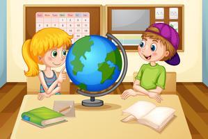 Barn och jordklot