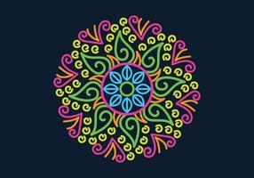 Kolam-Muster-Vektor