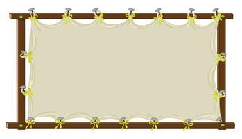 blank banner vektor