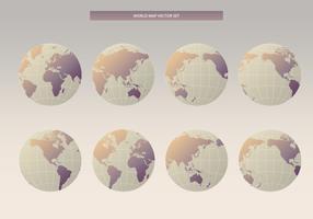Internationaler Globus-Kartensatz 3D