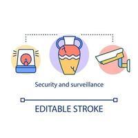 Symbol für Sicherheits- und Überwachungskonzept vektor