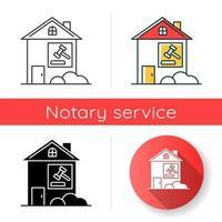 Symbol für Immobilienklage vektor