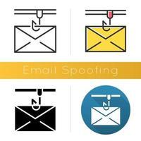 Symbol für E-Mail-Spoofing vektor