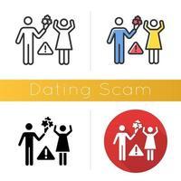 Symbol für Dating-Betrug vektor