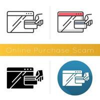 Symbol für Online-Kaufbetrug vektor