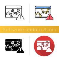 Symbol für Software-Update-Betrug vektor