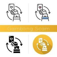 Symbol für Glücksspielbetrug vektor
