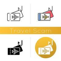 Symbol für Reisebetrug vektor
