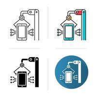 Ikone der Elektronikindustrie vektor