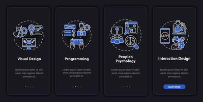 Produktdesign Onboarding mobiler App-Seitenbildschirm vektor