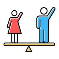 Farbsymbol für die Gleichstellung der Geschlechter vektor