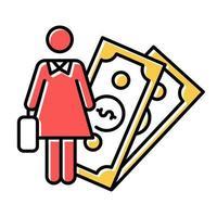Symbol für die weibliche wirtschaftliche Aktivität vektor