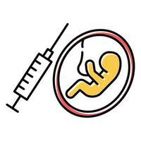 Farbsymbol für erzwungene Abtreibung vektor