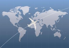 Internationale Karte 3D vektor