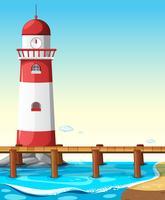 Leuchtturm an der Brücke