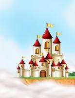 Ein wunderschönes Märchenschloss vektor
