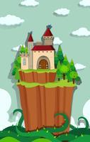 Slott på ön vektor
