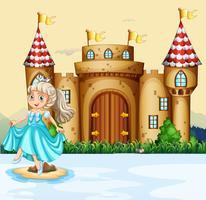Süße Prinzessin im Palast vektor