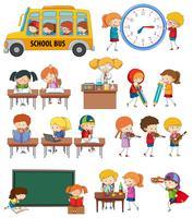 Satz von studentischen Aktivitäten vektor