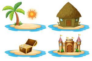 Fyra öar vektor